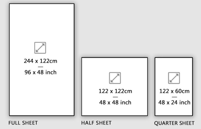 Sizes Sheets